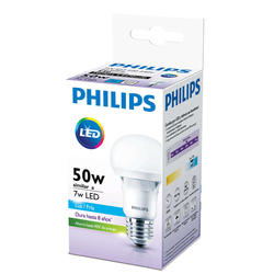Pack 10 Lamparas LEDBulb Philips 7W E27 3000K Blanco Calido