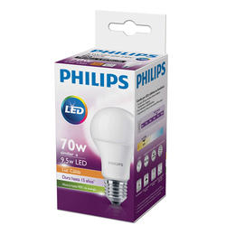 Pack 10 Lamparas LEDBulb Philips 9.5W E27 3000K Blanco Calido